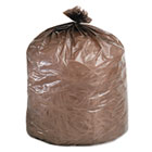 Eco-Degradable Plastic Trash Bag, 20-30gal, .8mil, 30 x 36, Brown, 60/Box STOG3036B80