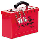 Latch Tight Portable Lock Box, Red MLK498A