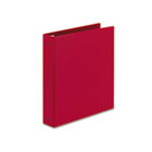 "Economy Binder with Round Rings, 1-1/2"" Capacity, Red AVE03410"