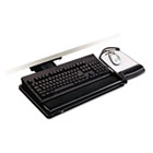 "Positive Locking Keyboard Tray, Highly Adjustable Platform, 17-3/4"" Track, Black MMMAKT101LE"