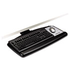 "Positive Locking Keyboard Tray, Standard Platform, 17-3/4"" Track, Black MMMAKT71LE"