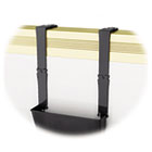 Break-Resistant Plastic Partition Brackets w/Extension, 1 3/4 x 3, Black, 2/Set DEF3916104