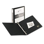 "Economy View Binder with Round Rings, 1"" Capacity, Black AVE05710"