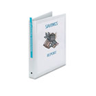 "Economy View Binder with Round Rings, 1"" Capacity, White AVE05711"