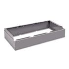 Three Wide Closed Locker Base, 36w x 18d x 6h, Medium Gray TNNCLB3618MG