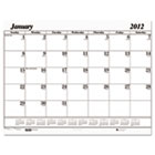 One-Color Dated Monthly Desk Pad Calendar Refill, 22w x 17h, 2014 HOD126