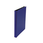 "Suede Finish Vinyl Round Ring Binder, 1/2"" Capacity, Royal Blue UNV30402"