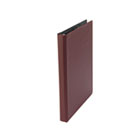 "Suede Finish Vinyl Round Ring Binder,1/2"" Capacity, Burgundy UNV30406"