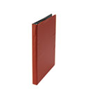 "Suede Finish Vinyl Round Ring Binder, 1/2"" Capacity, Red UNV30403"