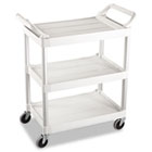Service Cart, 200-lb Cap, Three-Shelf, 18-5/8w x 33-5/8d x 37-3/4h, Off-White RCP342488OWH