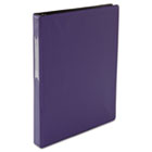 "Suede Finish Vinyl Round Ring Binder With Label Holder, 1"" Capacity, Royal Blue UNV31412"