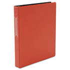 "Suede Finish Vinyl Round Ring Binder With Label Holder, 1"" Capacity, Red UNV31413"