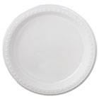 "Heavyweight Plastic Dinnerware, Plates, 9"" dia, White, 125/Pack, 4 Packs/Carton HTM81209"
