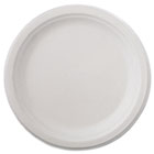 "Classic Paper Dinnerware, Plate, 9 3/4"" dia, White, 125/Pack, 4 Packs/Carton HTMVAPOR"