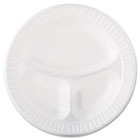 "Plastic Dinnerware, Plate, 3-Comp, 10 1/4"" dia, White, 125/Pack, 4 Packs/Carton DRC10CPWQ"