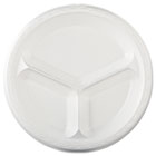 "Elite Laminated Foam Dinnerware, Plate, 3-Comp, 10 1/4"" dia, White, 500/Carton GPKLAM13"