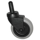 "Replacement Swivel Bayonet Casters, 3"" Wheel, Thermoplastic Rubber, Black, 4/PK RCP7570L2"