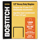 Heavy-Duty Staples, 1/2 Inch Leg, 100 Strip Count, 1,000/Box BOSSB35121M