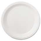 "Coated Paper Dinnerware, Plate, 9"", White, 50/Pack, 10 Packs/Carton HOFPL7095"