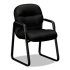 2090 Pillow-Soft Series Guest Arm Chair, Black Upholstery/Black Sled Base HON2093NT10T