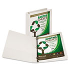 "Earth's Choice Biodegradable Round Ring View Binder, 1"" Capacity, White SAM18937"