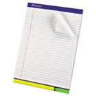 EZ Flag Writing Pad, Wide Ruled, 8-1/2 x 11, White, 50 Sheets/Pad ESS20325