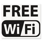 Self-Stick FREE Wi-Fi-Sign, Vinyl, 6 x 6, Black/White USS6161