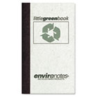 Little Green Book, Gray Cover, Narrow Rule, 5 x 3, White Paper, 60 Sheets ROA77356