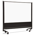 D.O.C. Mobile Double-Sided Marker Board Divider, 72 x 72, Black BLT74902