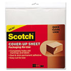 Scotch Cover-Up Sheet, 12 x 12, White, 6/Pk MMMRUCUS6WH