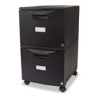 Two-Drawer Mobile Filing Cabinet, 14-3/4w x 18-1/4d x 26h, Black STX61309B01C
