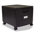 Single-Drawer Mobile Filing Cabinet, 14-3/4w x 18-1/4d x 12-3/4h, Black STX61259B01C
