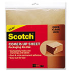 Scotch Cover-Up Sheet, 12 x 12, Brown, 6/Pk MMMRUCUS6BR