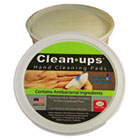 "Clean-Ups Hand Cleaning Pads, Cloth, 3"" dia, 60/Tub LEE10145"