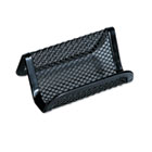 Mesh Metal Business Card Holder, 50 2 1/4 x 4 cards, Black UNV20005