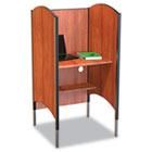 Height-Adjustable Carrel, Laminate, 31w x 30d x 57-1/2 to 69-1/2h, Cherry BLT90294