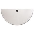 Valencia Series Training Table Top, Half-Round, 47 1/4w x 23 5/8d, Speckled Gray ALEVA72HR4824GY