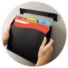 Cubicle Wall File Pocket, 12 1/2 x 1 3/8 x 9 1/2, Black AVE73515
