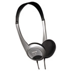 HP-200 Stereo Headphones, Silver MAX190318