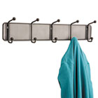 Onyx Mesh Wall Racks, 5 Hook, Steel SAF6403BL