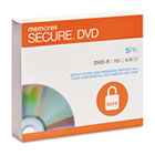 DVD-R, Secure, 4.6GB, Slim Jewel, Silver, 5/Pack MEM98967