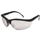 Klondike Safety Glasses, Black Matte Frame, Clear Mirror Lens CRWKD119