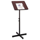 Adjustable Speaker Stand, 21w x 21d x 29-1/2h to 46h, Mahogany/Black SAF8921MH