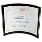 Superior Image Magnetic Certificate Holder, Plastic, 8-1/2 x 11, Black/Clear DEF680375