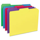 Recycled Interior File Folders, 1/3 Cut Top Tab, Letter, Assorted, 100/Box UNV12306