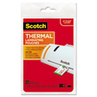 Business Card Size Thermal Laminating Pouches, 5 mil, 3 3/4 x 2 3/8, 20/Pack MMMTP585120