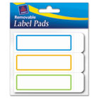 Removable Label Pads, 1 x 3, Assorted, 120/Pack AVE22014
