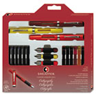 Calligraphy Pen Set, Maxi Kit, 4 Nibs SHF73404
