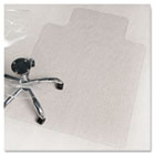 ecoKLEER Chair Mat, 36 x 48, 20 x 10 Lip, For Loop Berber Carpet, Clear ESR121114