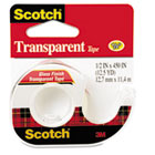 "Transparent Tape in Hand Dispenser, 1/2"" x 450"", Clear MMM144"